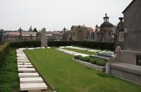 Headstones in Caudry cemetery.
