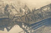 The bridge at Masnières damaged by the 25-tonnes tank Flying Fox II