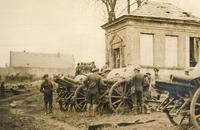 The British examine the guns of a field artillery