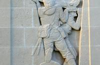 Right-hand bas-relief – Louverval Memorial.